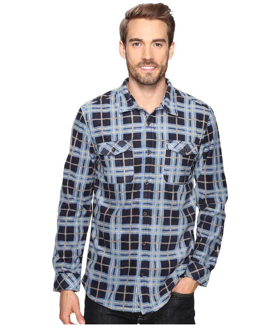 Jack O'Neill - Poseidon Woven (Navy) Men's Long Sleeve Button Up