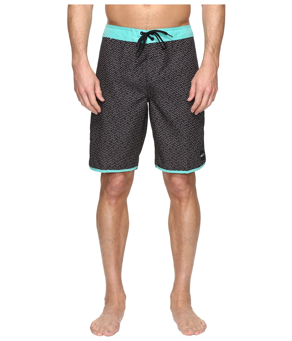 O'Neill - Santa Cruz Scallop Boardshorts (Black Print) Men's Swimwear
