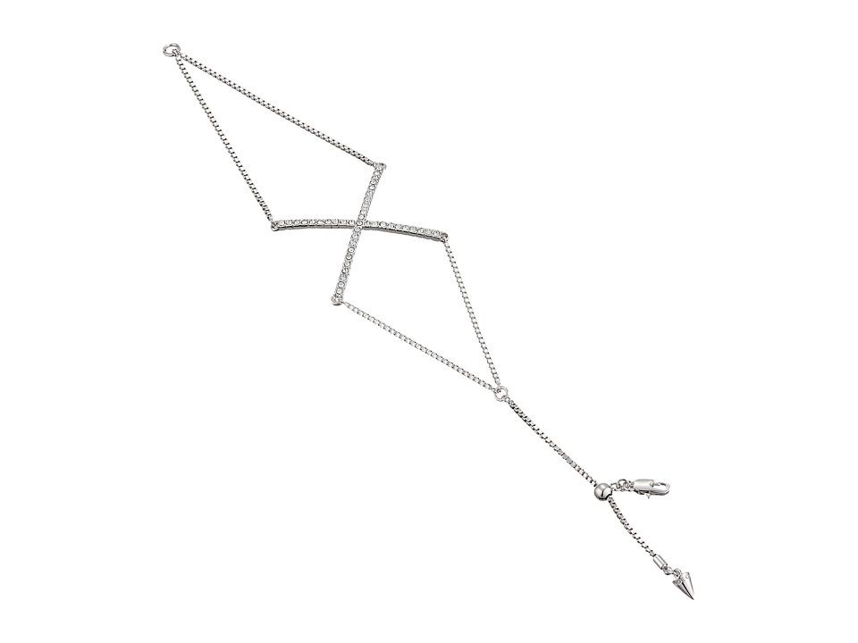 Vince Camuto - X Bracelet (Light Rhodium/Crystal) Bracelet