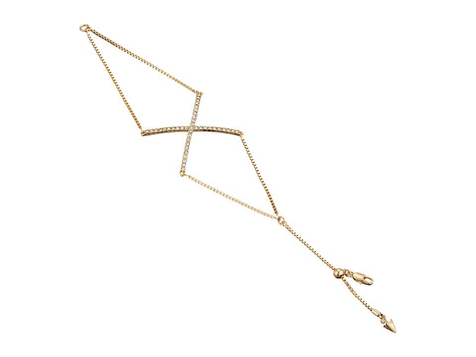 Vince Camuto - X Bracelet (Gold/Crystal) Bracelet