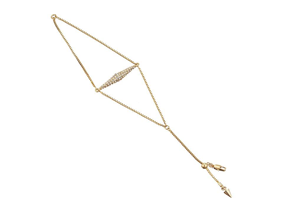 Vince Camuto - Vertical Extended Pyramid Bracelet (Gold/Crystal) Bracelet