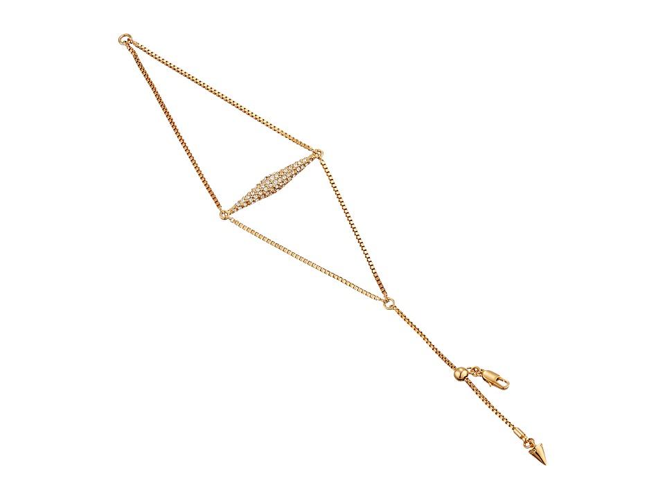 Vince Camuto - Vertical Extended Pyramid Bracelet (Burnt Rose Gold/Crystal) Bracelet