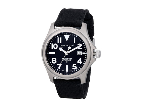 Momentum by St. Moritz - Momentum Atlas (Black Dial/Black Cordura Strap) Analog Watches