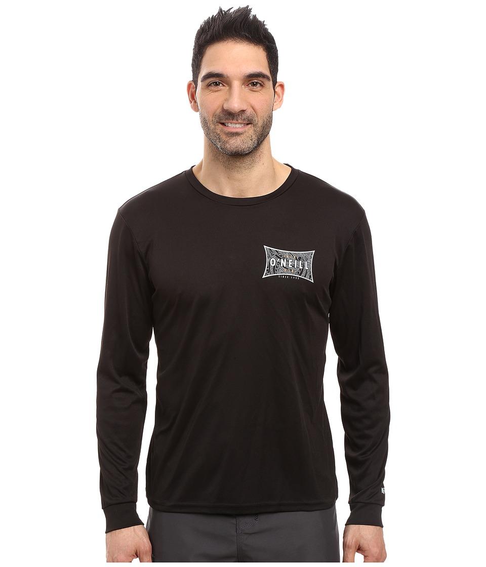 Jack O'Neill - Mainsail Long Sleeve Performance Screen Tee Imprint (Black) Men's T Shirt