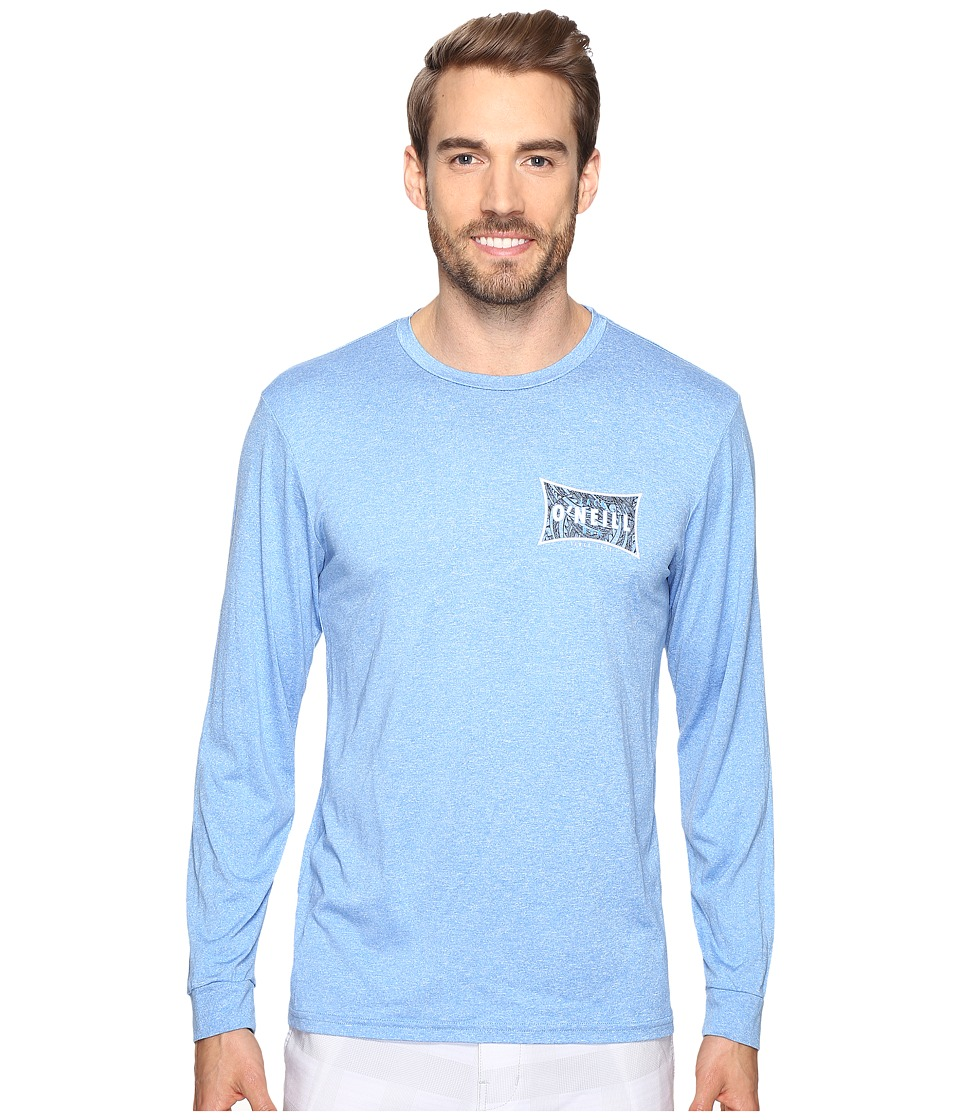 Jack O'Neill - Mainsail Long Sleeve Performance Screen Tee Imprint (Blue) Men's T Shirt