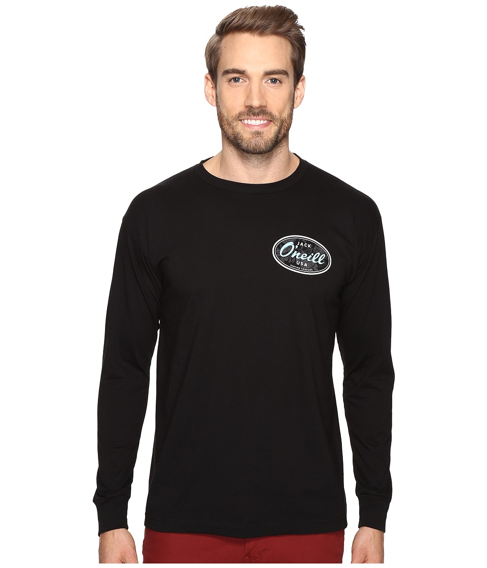 Jack O'Neill - Backyard Long Sleeve Screen Tee Imprint (Black) Men's T Shirt