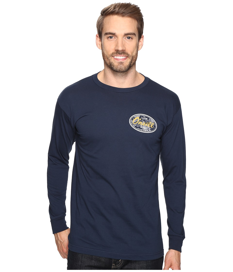 Jack O'Neill - Backyard Long Sleeve Screen Tee Imprint (Navy) Men's T Shirt