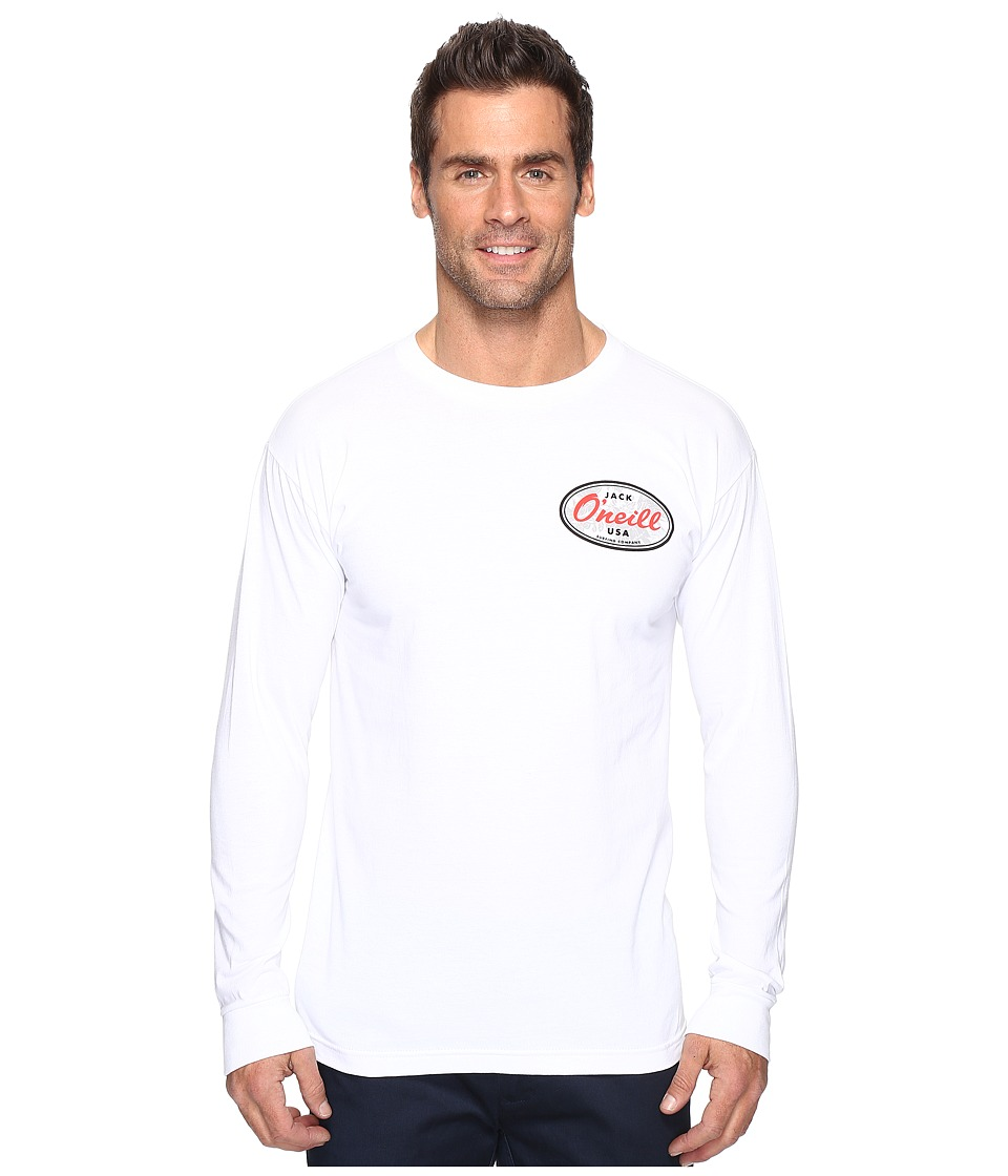 Jack O'Neill - Backyard Long Sleeve Screen Tee Imprint (White) Men's T Shirt