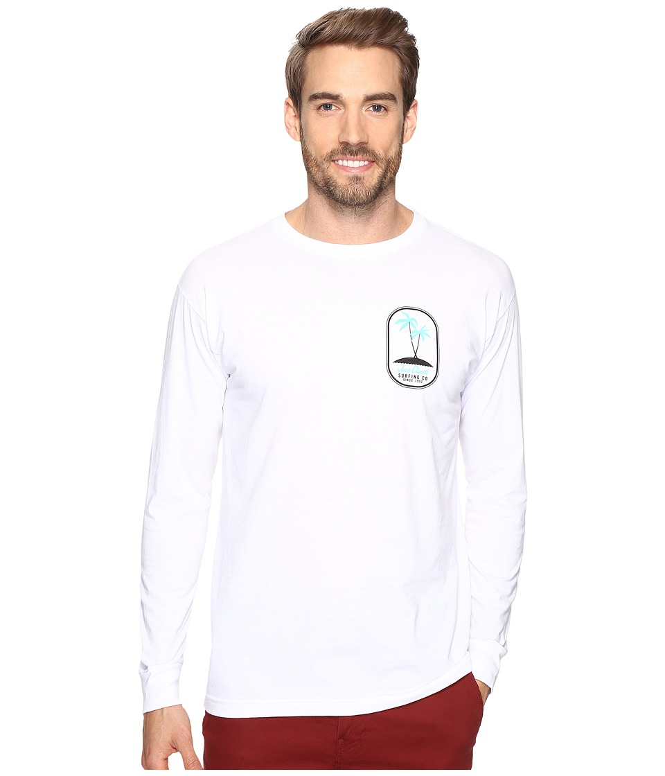 Jack O'Neill - Motu Long Sleeve Screen Tee Imprint (White) Men's T Shirt