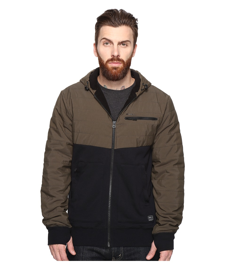 O'Neill - Quadra Quilted Hoodie (Olive) Men's Sweatshirt