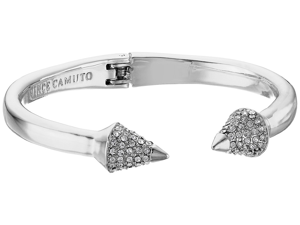 Vince Camuto - Pave Cone Hinged Cuff Bracelet (Light Rhodium/Crystal) Bracelet