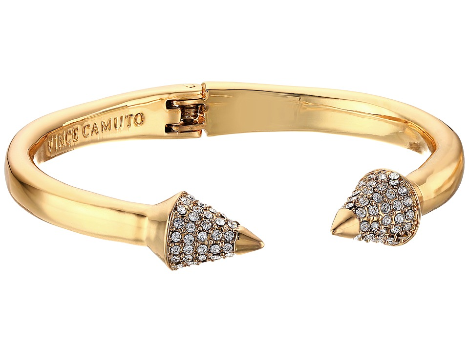 Vince Camuto - Pave Cone Hinged Cuff Bracelet (Gold/Crystal) Bracelet