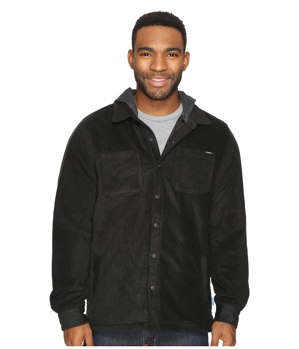 O'Neill - Glacier Quilted Long Sleeve Woven (Black) Men's Clothing