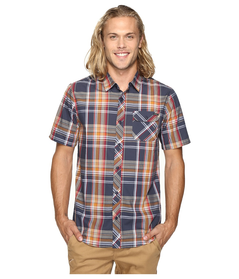 O'Neill - Emporium Plaid Short Sleeve Top (Navy) Men's Clothing