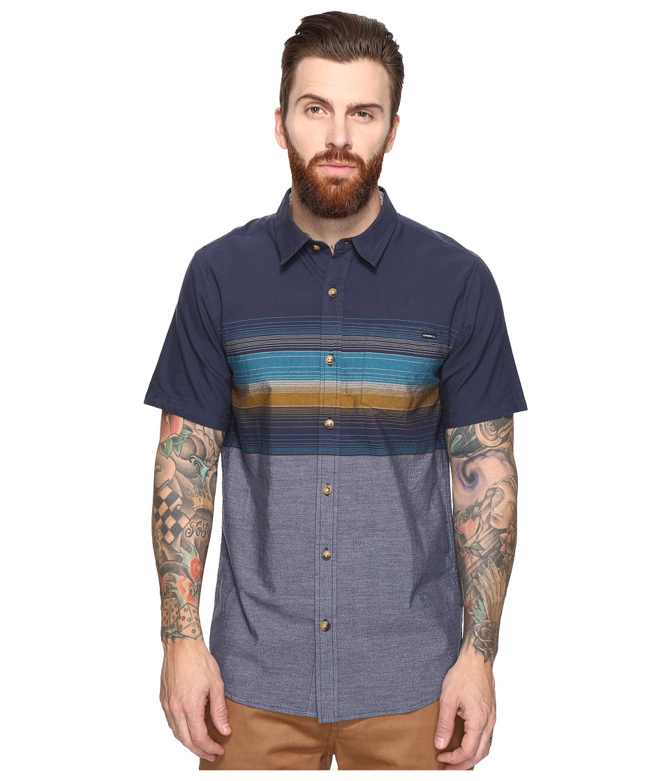 O'Neill - The Williams Short Sleeve Woven (Navy) Men's Clothing