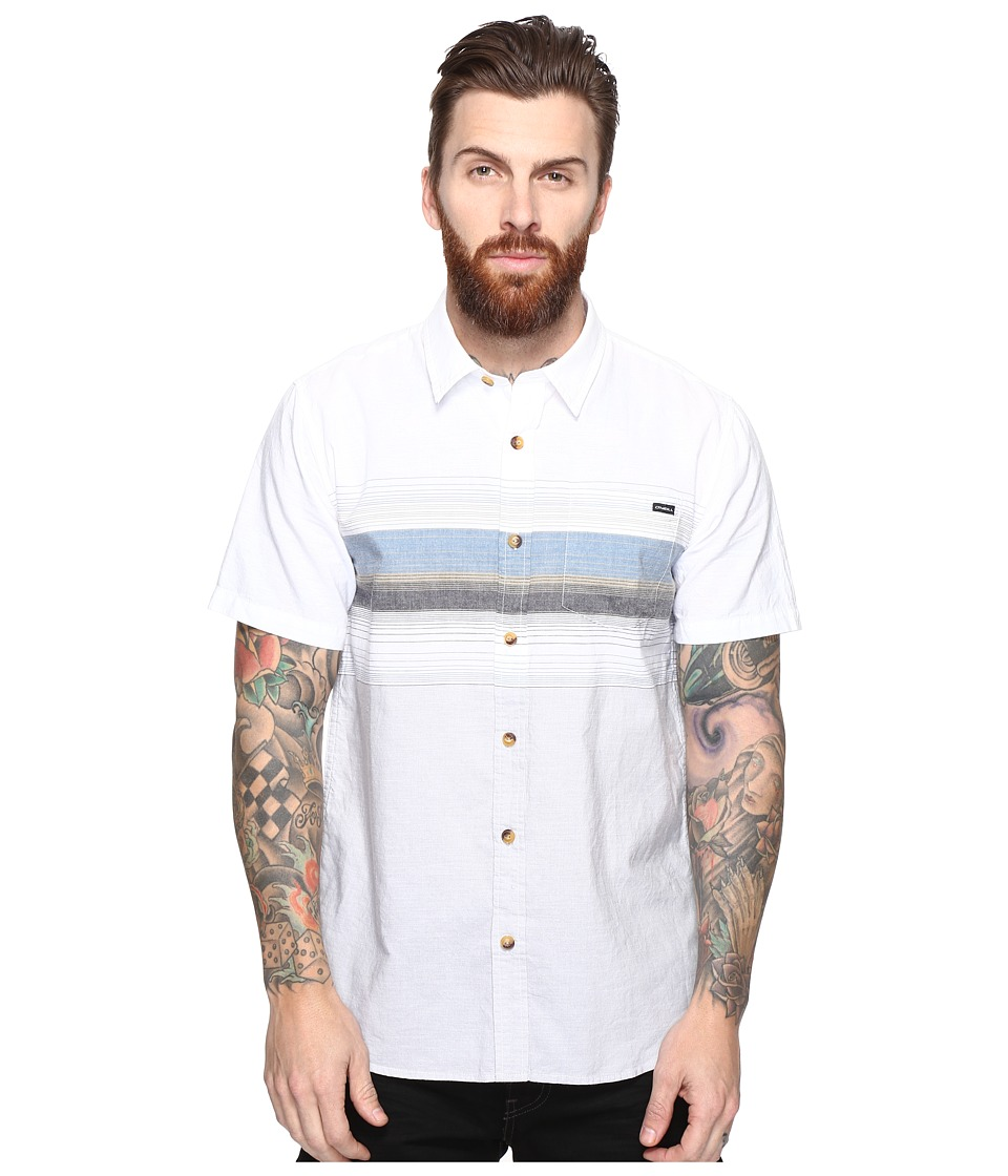 O'Neill - The Williams Short Sleeve Woven (White) Men's Clothing
