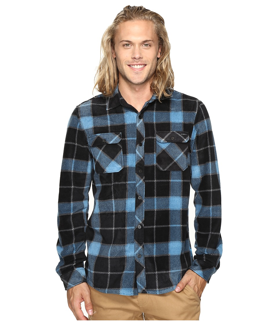 O'Neill - Glacier Big Plaid Long Sleeve Woven (Black) Men's Clothing