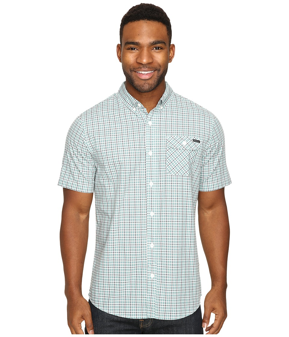 O'Neill - Emporium Check Short Sleeve Top (Aqua) Men's Clothing