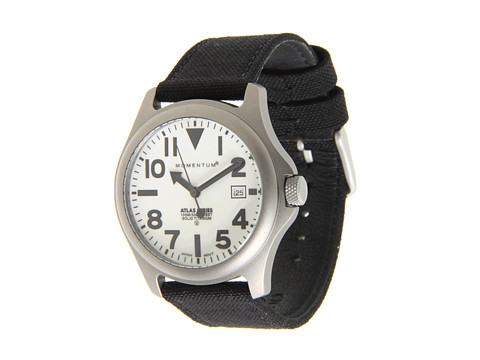 Momentum by St. Moritz - Momentum Atlas (White Dial/Black Cordura Strap) Analog Watches