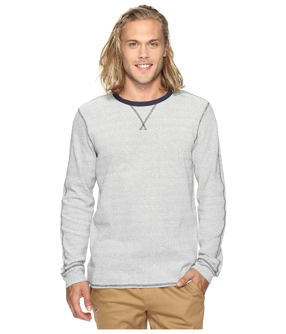 O'Neill - Pipelines Long Sleeve Crew Knits (White) Men's Clothing