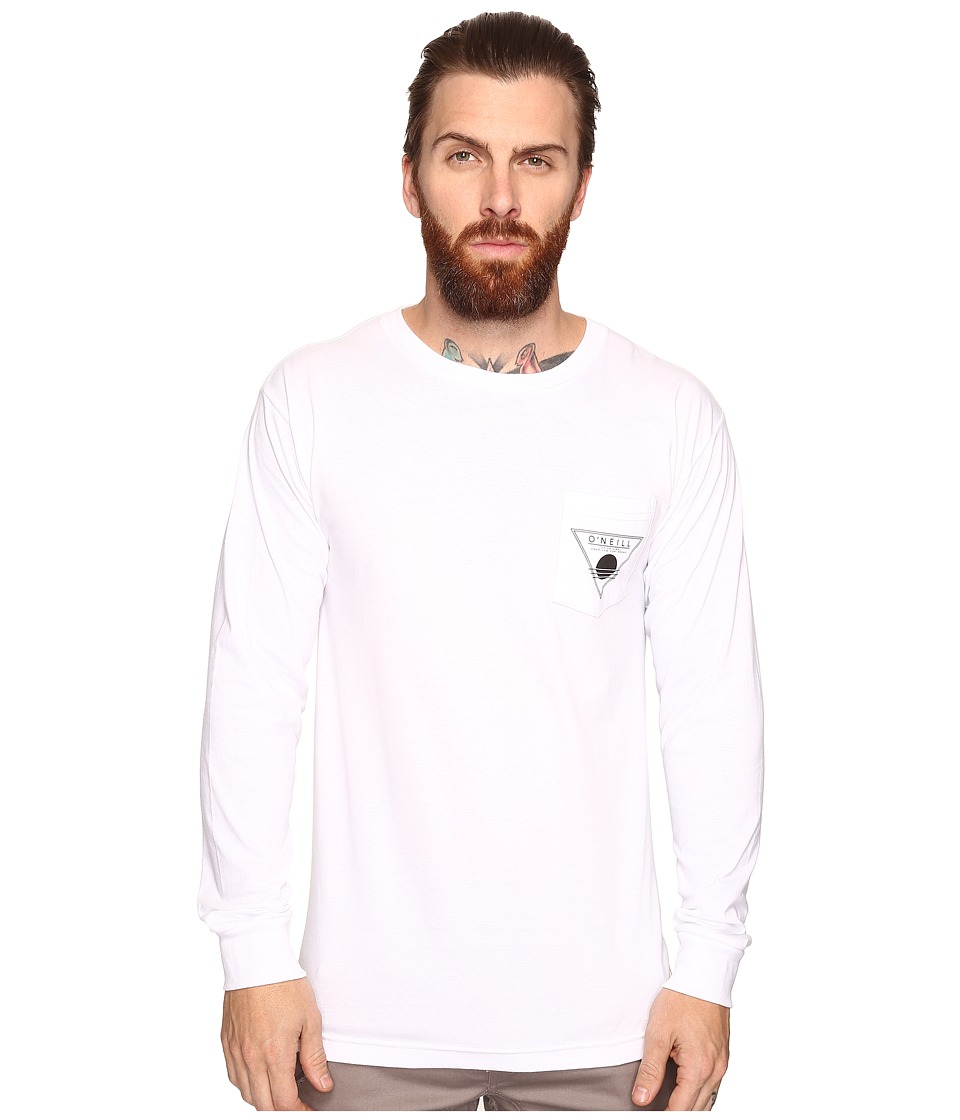 O'Neill - Sunspot Long Sleeve Screens Impression T-Shirt (White) Men's T Shirt