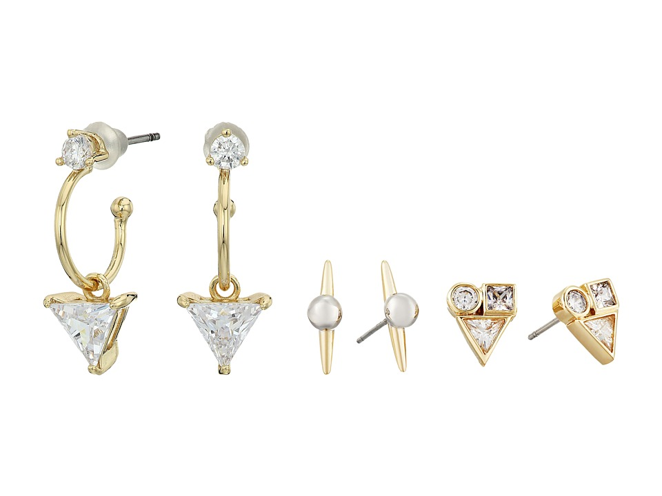 Vince Camuto - Multi Stud Mix Earrings (Gold/Light Rhodium/Crystal) Earring