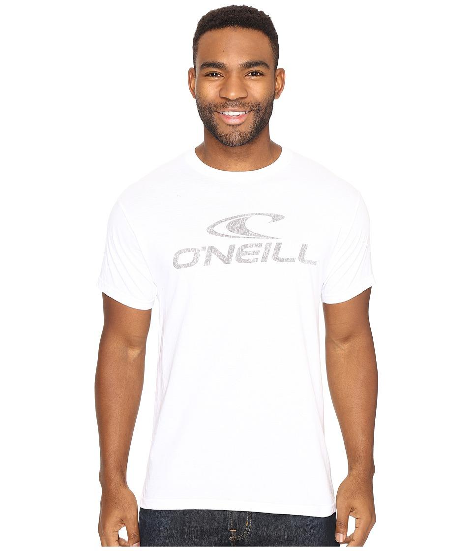O'Neill - Supreme Short Sleeve Screen Tee (White) Men's Short Sleeve Pullover