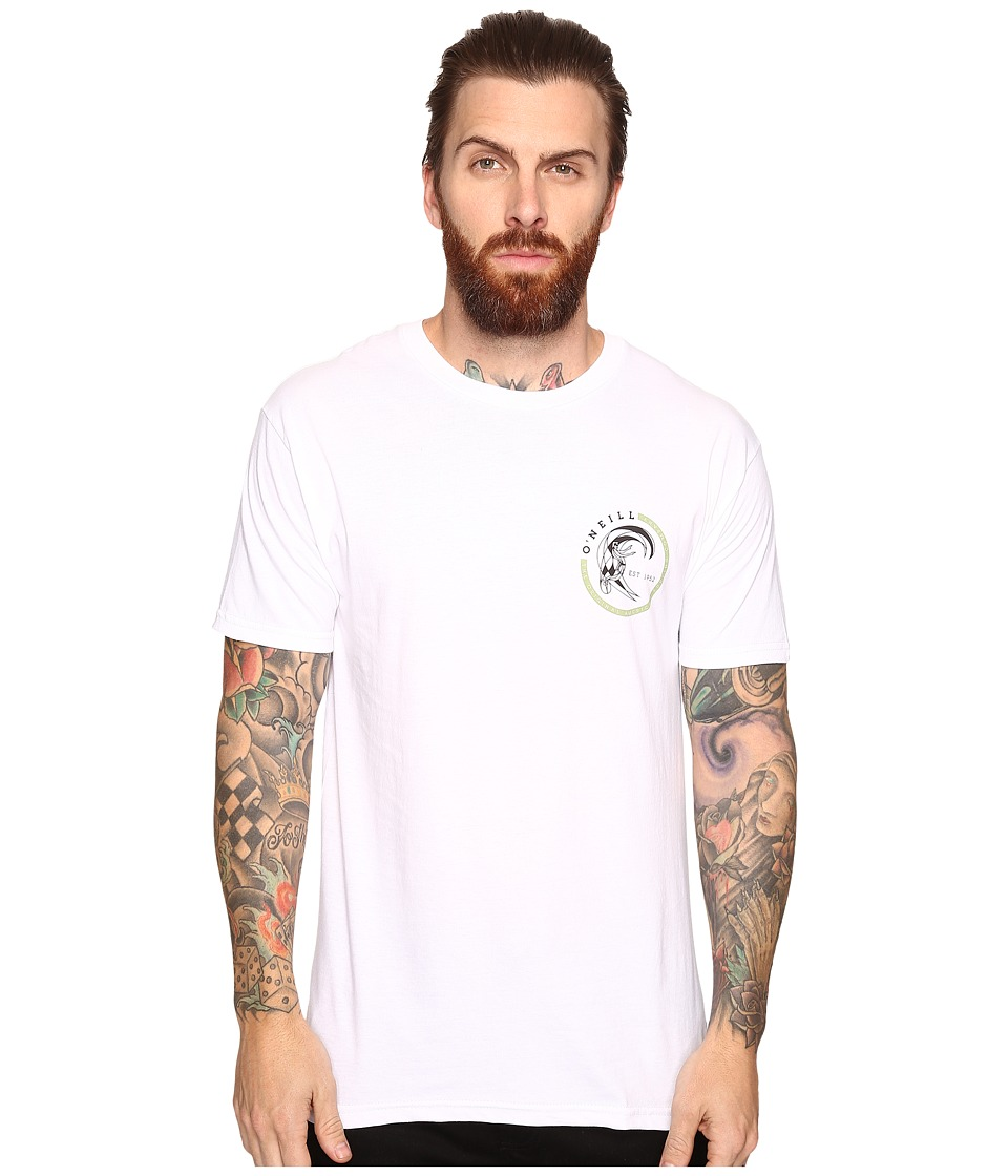 O'Neill - Slab Short Sleeve Screens Impression T-Shirt (White) Men's T Shirt