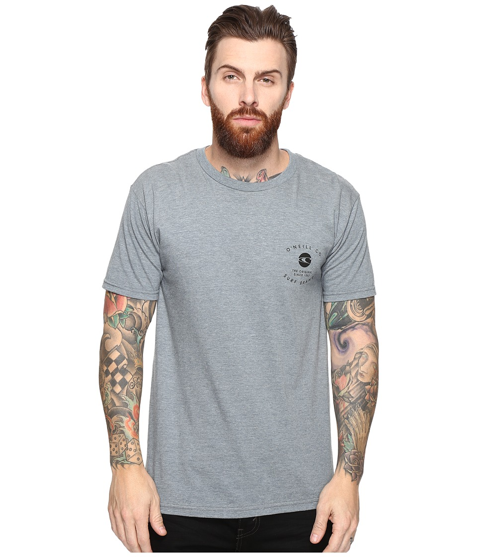 O'Neill - Proprietor Short Sleeve Screens Impression T-Shirt (Medium Heather Grey) Men's T Shirt