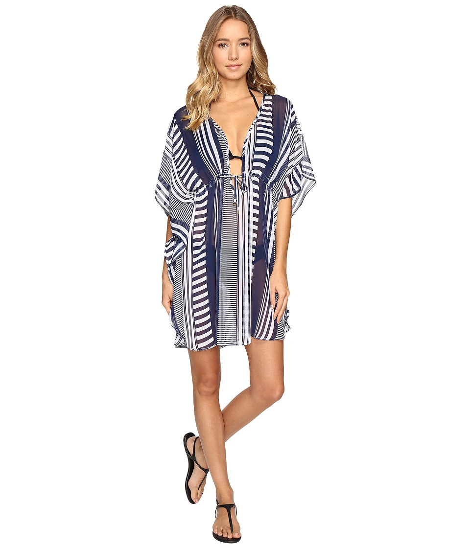Bleu Rod Beattie - Cruise Control Caftan Cover-Up (Navy) Women's Swimwear
