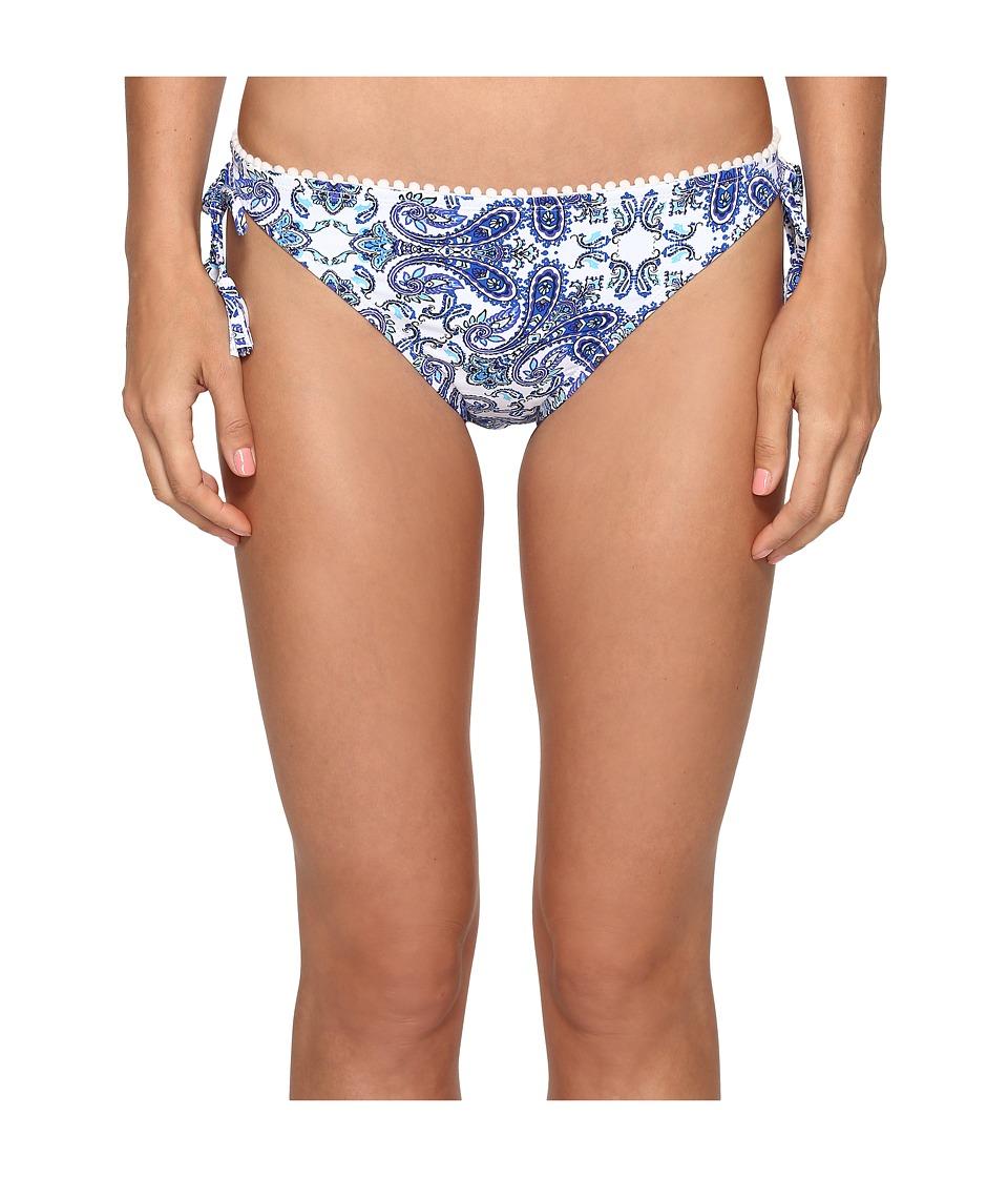 Bleu Rod Beattie - Driving Miss Paisley String Tie Side Bottom (Navy) Women's Swimwear