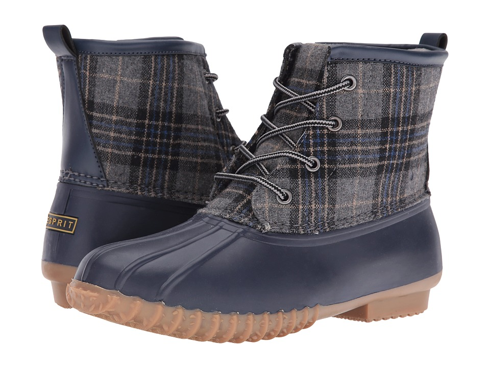 Esprit - Wanda-E (Navy Plaid) Women's Boots