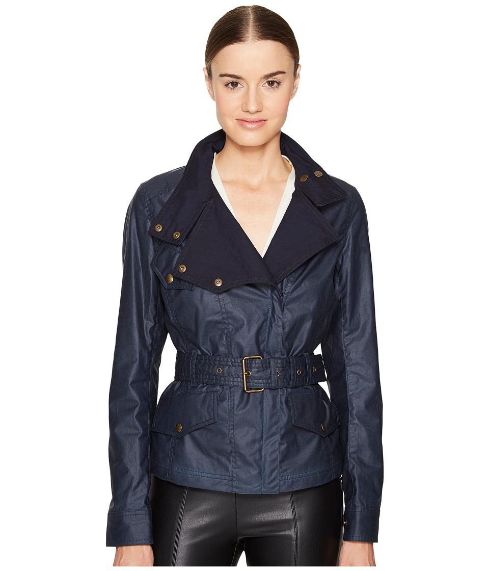 BELSTAFF - Bemptom Signature 6 oz. Wax Cotton Jacket (Dark Teal) Women's Coat