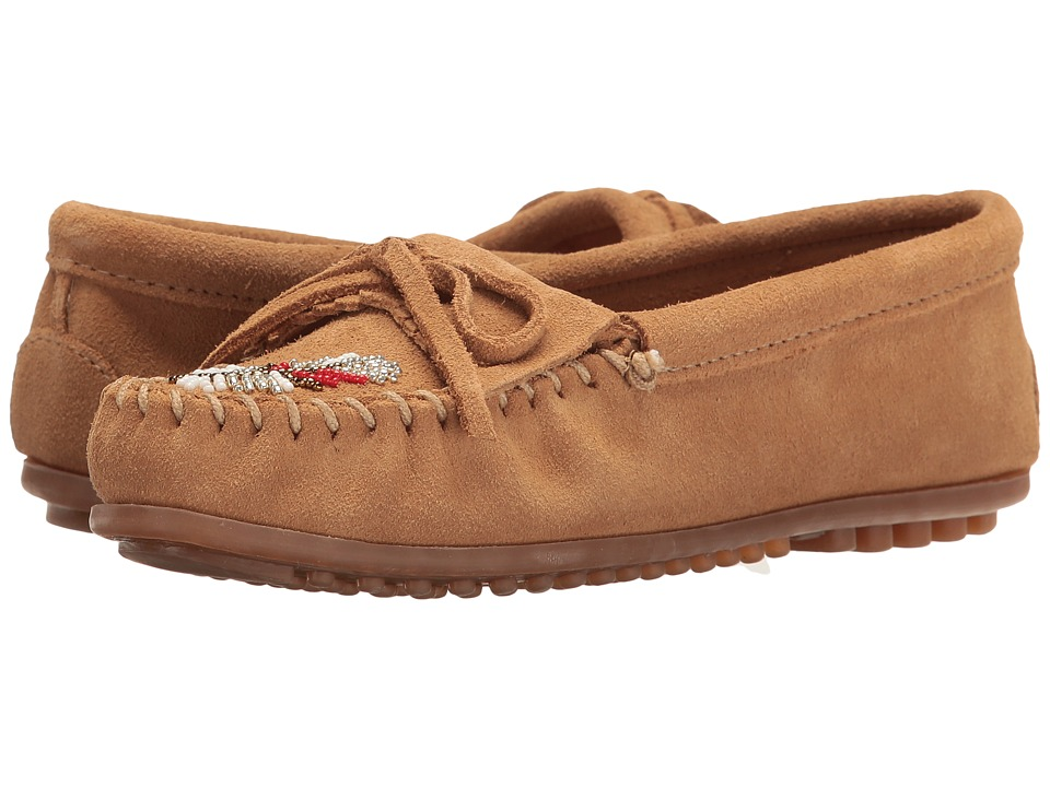 Minnetonka - M ko Moc (Taupe Suede) Women's Moccasin Shoes