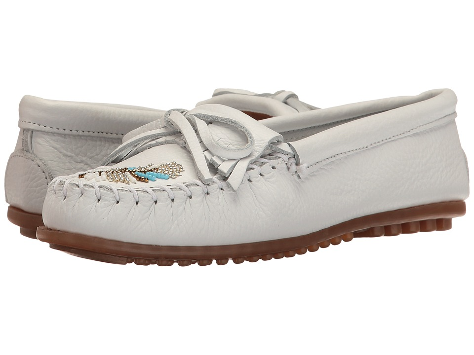 Minnetonka - Moko Moc (White Leather) Women's Moccasin Shoes