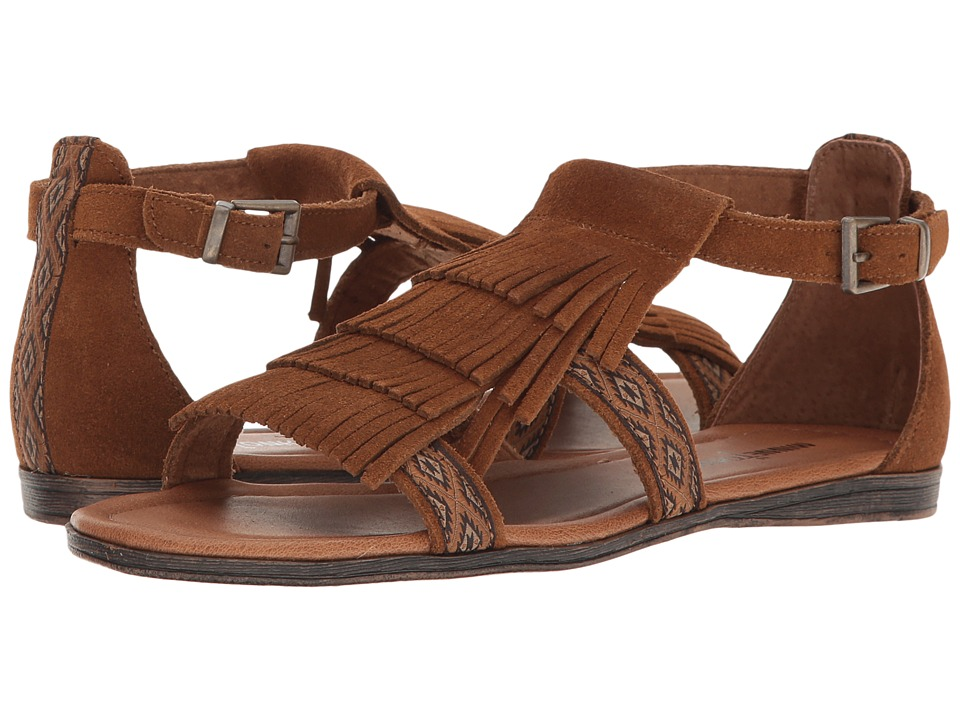 Minnetonka Maui (Dusty Brown Suede/Stillwater Fabric) Women