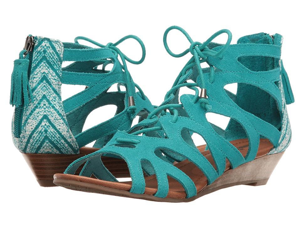 Minnetonka - Merida III (Turquoise Suede/Turquoise Kasbah Fabric) Women's Sandals