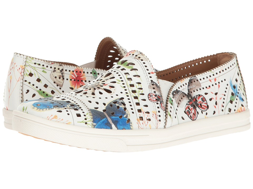Earth - Tangelo (White Multi Printed Leather) Women's Slip on Shoes