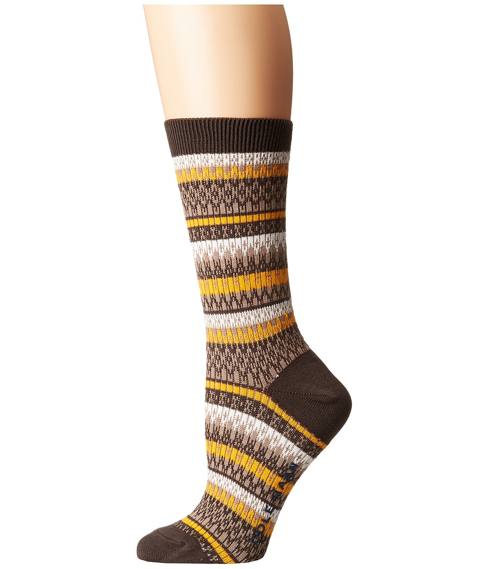 Cole Haan - Fairisle Crew (Deep Espresso) Women's Crew Cut Socks Shoes