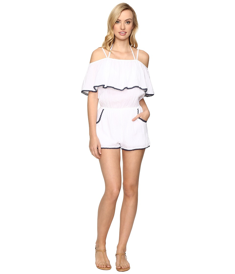 BECCA by Rebecca Virtue - Inspired Romper Cover-Up (White) Women's Jumpsuit & Rompers One Piece