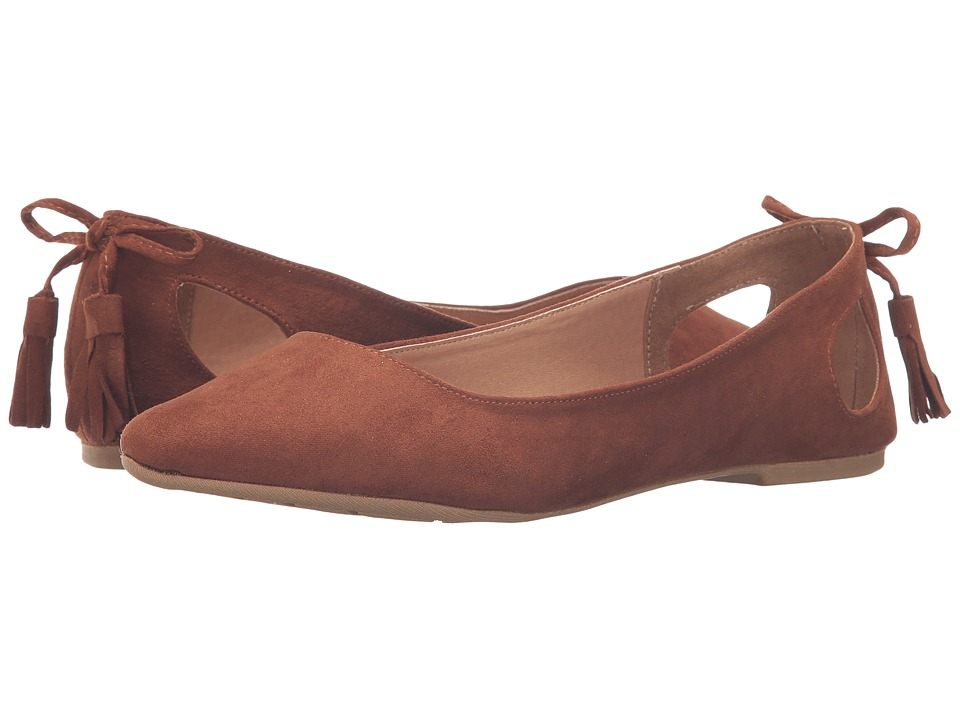 Madden Girl - Piippa (Rust Fabric) Women's Flat Shoes