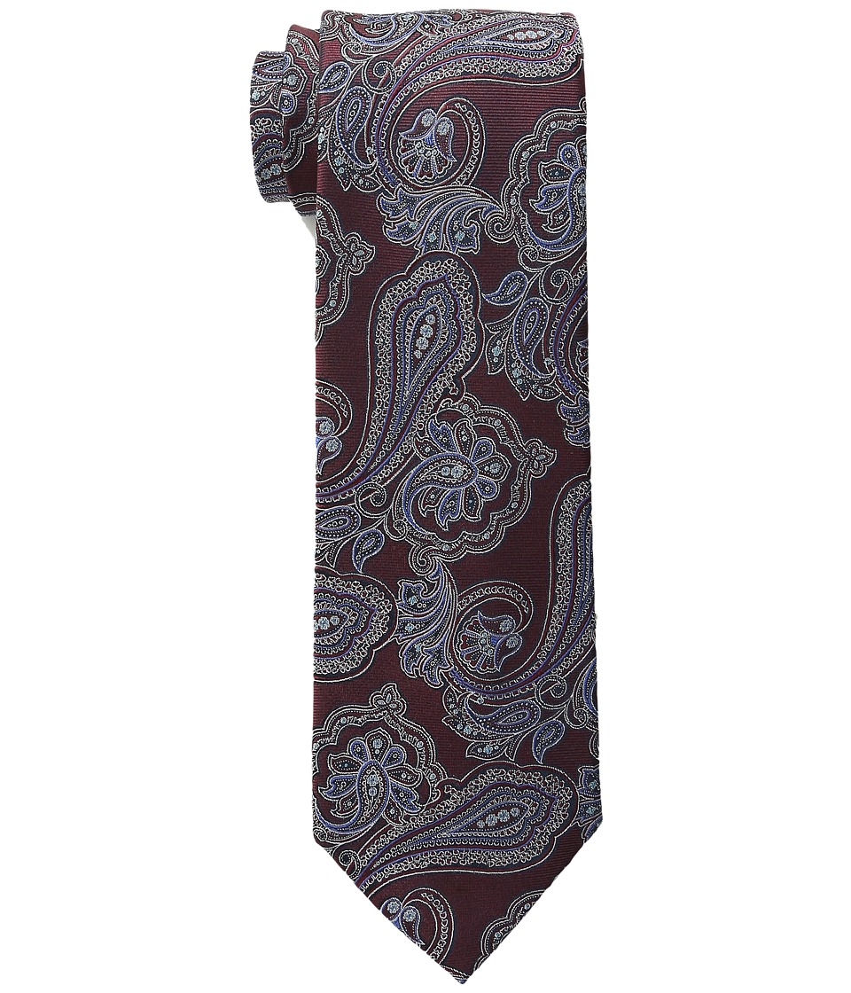 Tommy Hilfiger - New Paisley (Burgundy) Ties