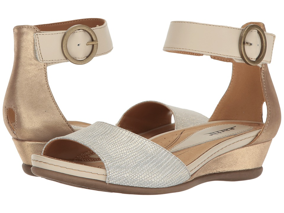 Earth Hera (Light Gold Textured Leather) Women