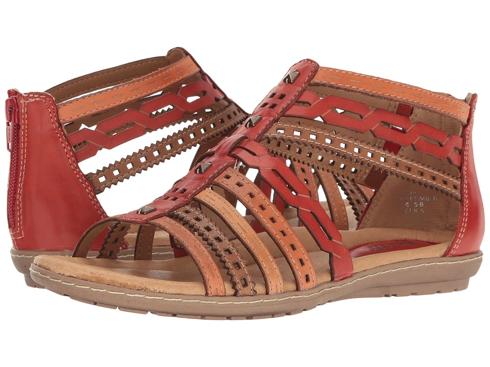 Earth - Bay (Scarlet Multi Soft Leather) Women's Sandals