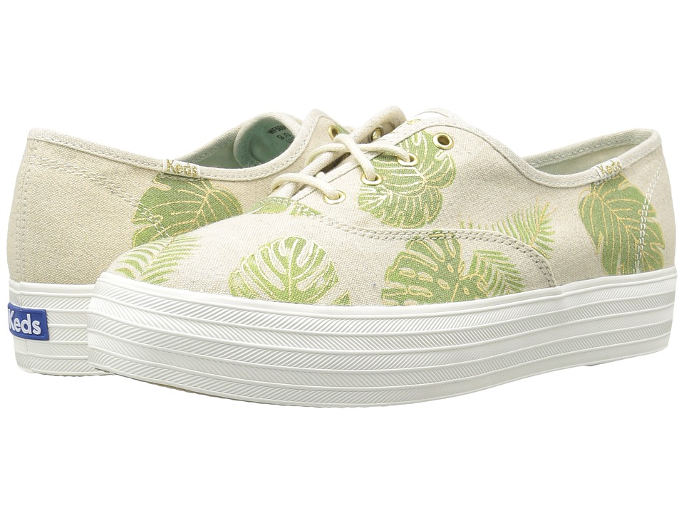 Keds - Triple Tropical Fern (Natural) Women's Shoes