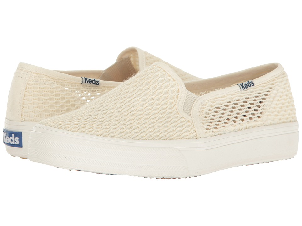 Keds - Double Decker Crochet (Cream) Women's Shoes