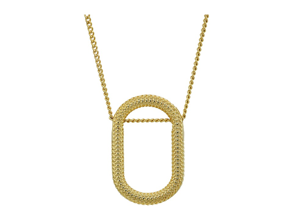 Cole Haan - 18 Oval Pendant Necklace (Gold) Necklace