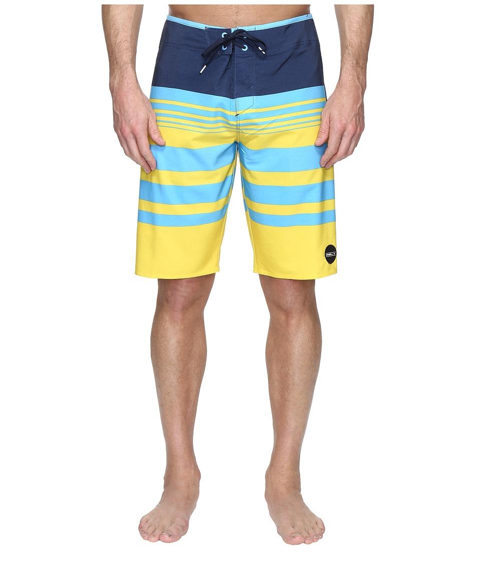 O'Neill - Hyperfreak Heist Boardshorts (Yellow) Men's Swimwear