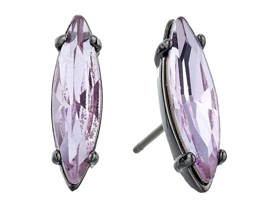 Rebecca Minkoff - Sparkler Stud Earrings (Gunmetal/Lavender) Earring