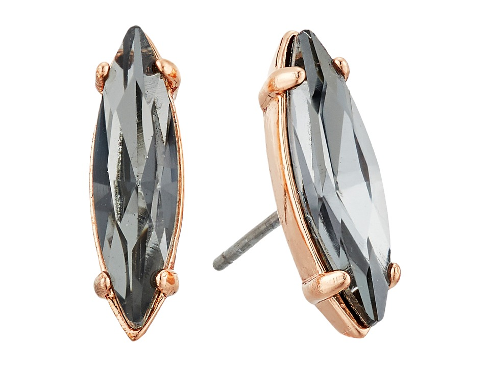 Rebecca Minkoff - Sparkler Stud Earrings (Rose Gold/Black Diamond) Earring